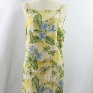 88ac312ee0 Tommy Bahama Dress Hawaiian Floral Flower Sz 12
